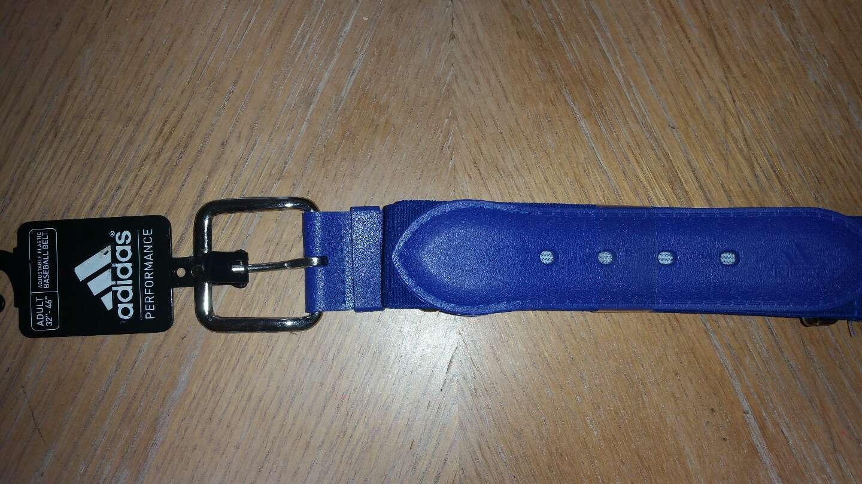 Photo New Adidas Baseball Belt, Royal Blue, Red, Black