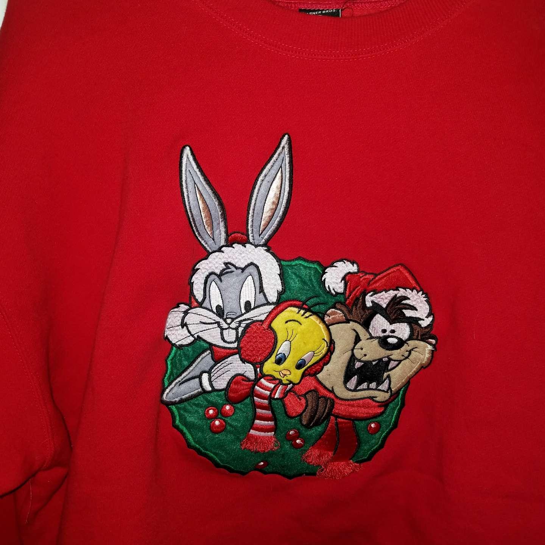 Photo Warner Brothers Looney Tunes embroidered sweatshirt XL