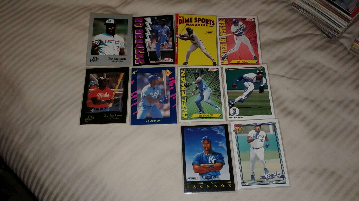 Photo Bo Jackson cards you get all 10