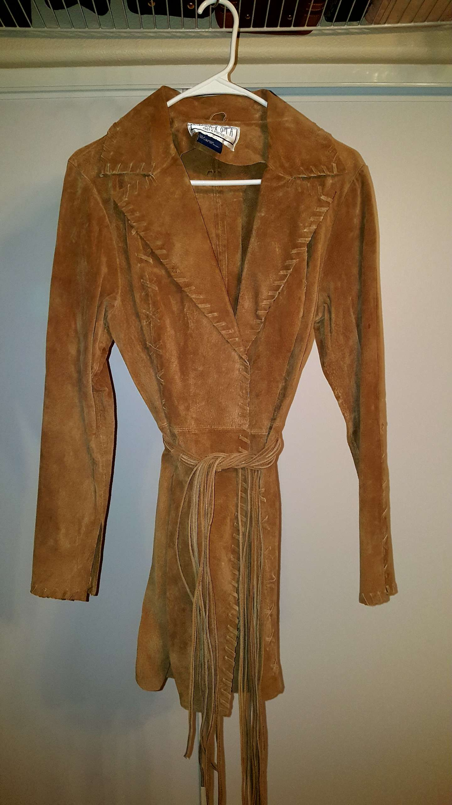 Photo Brown Suede Jacket