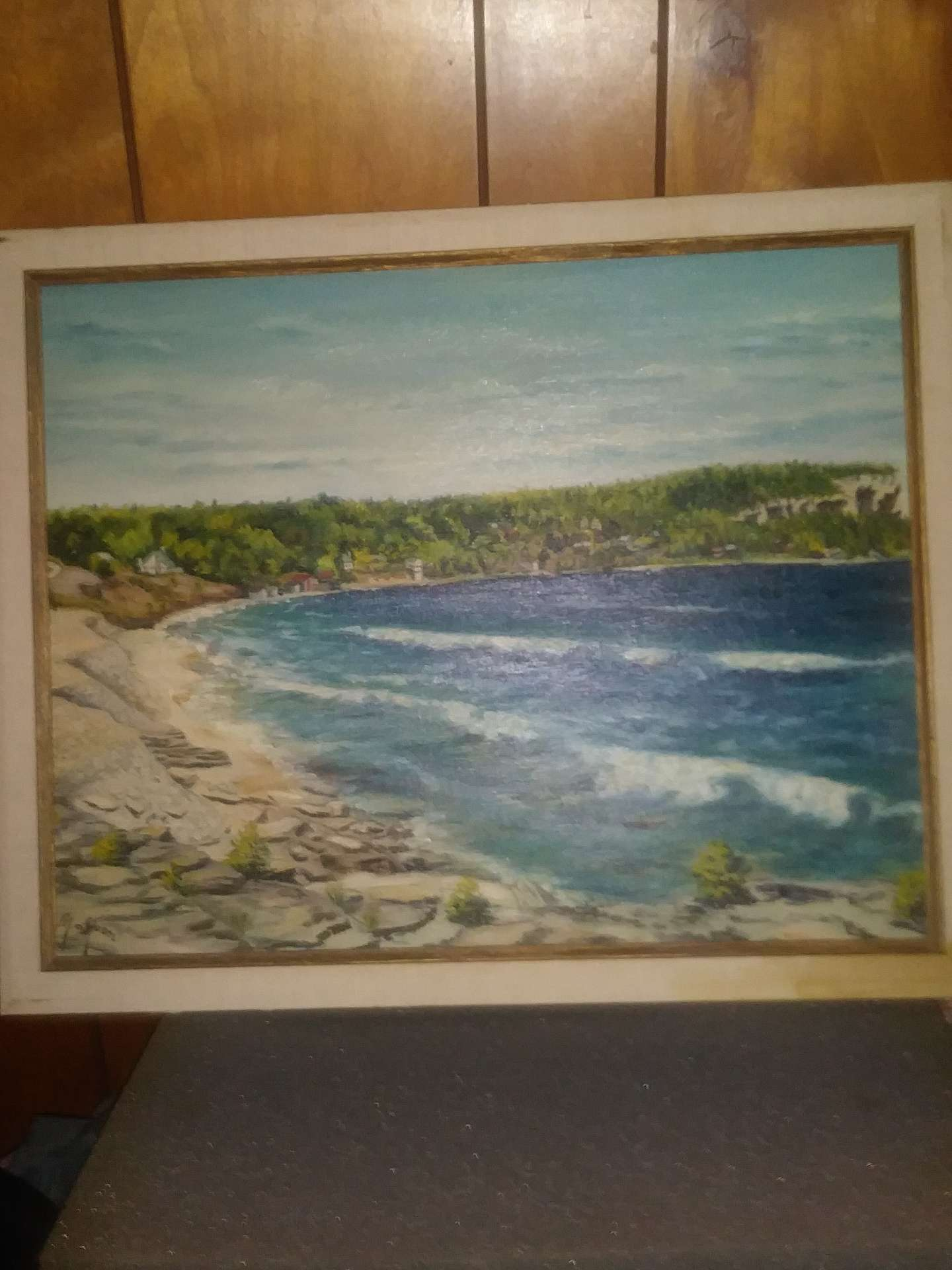 Photo Vintage Oil Painting on board ( M.c Moen )