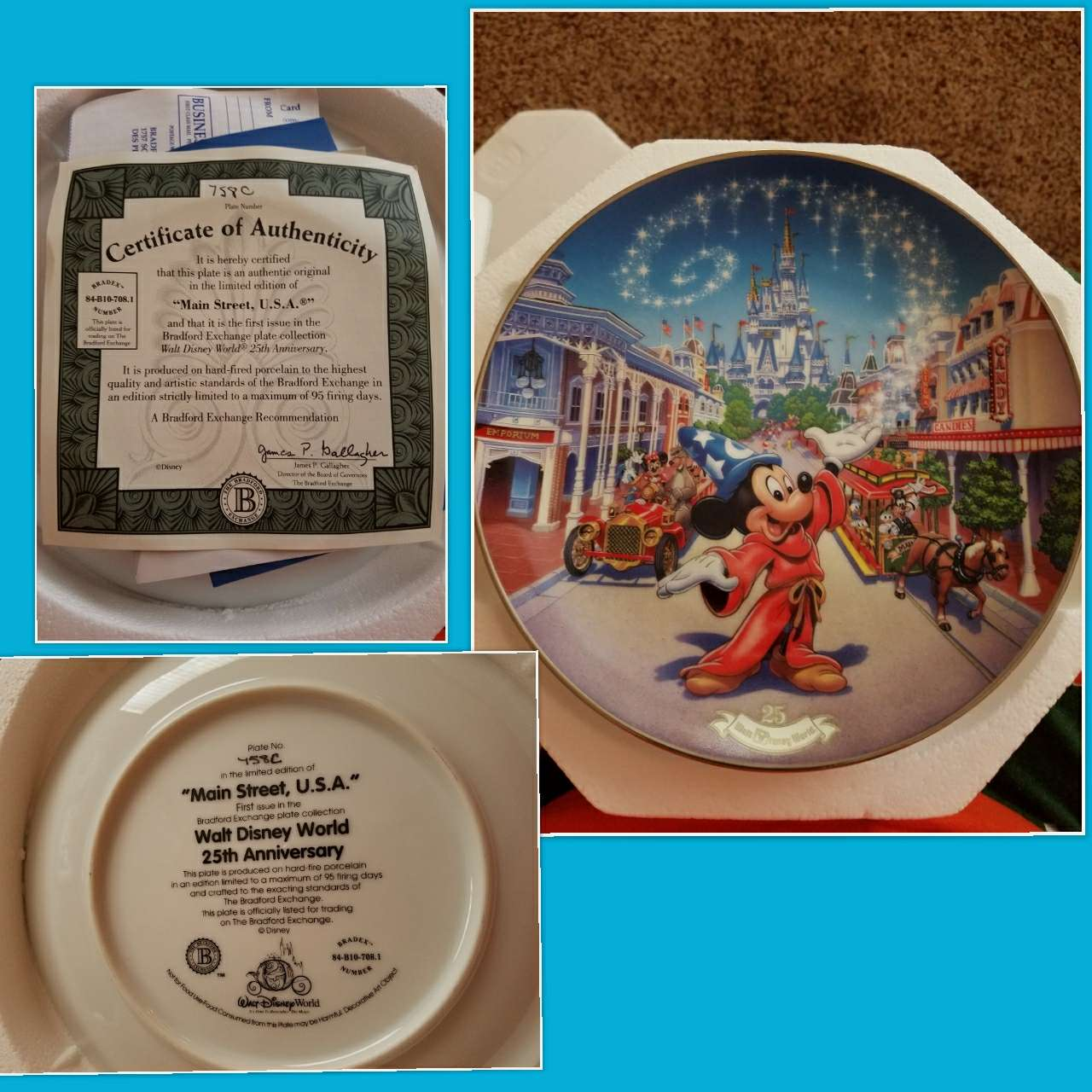 Photo Disney 25th Anniversary Plate