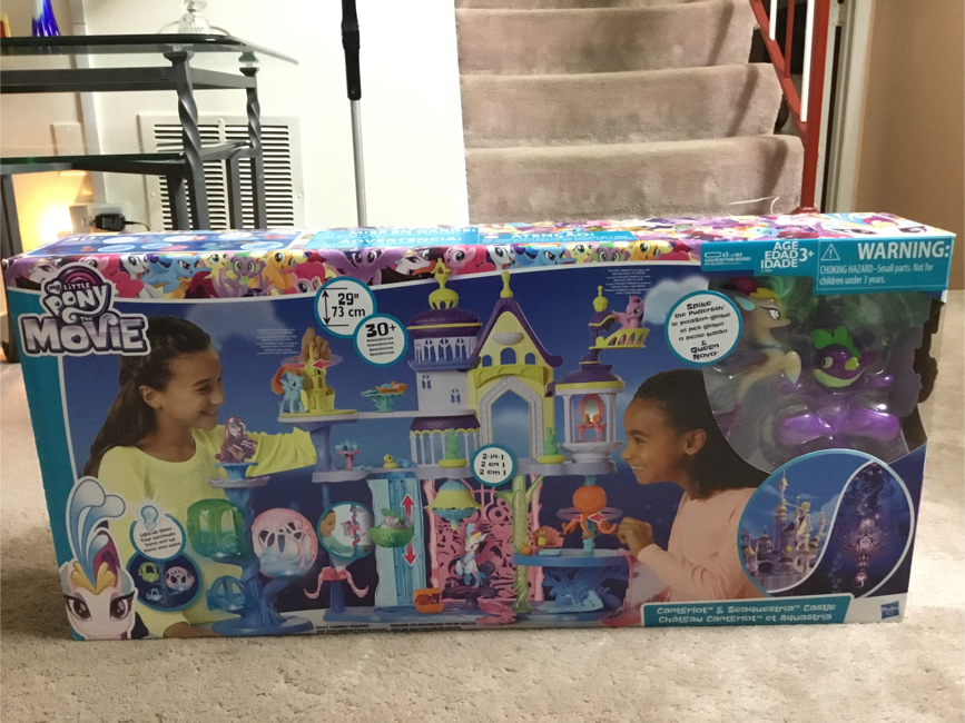 """Photo My little pony the movie Canterlot and Seaquestria Castle (Height is 29"""") (has lights)"""