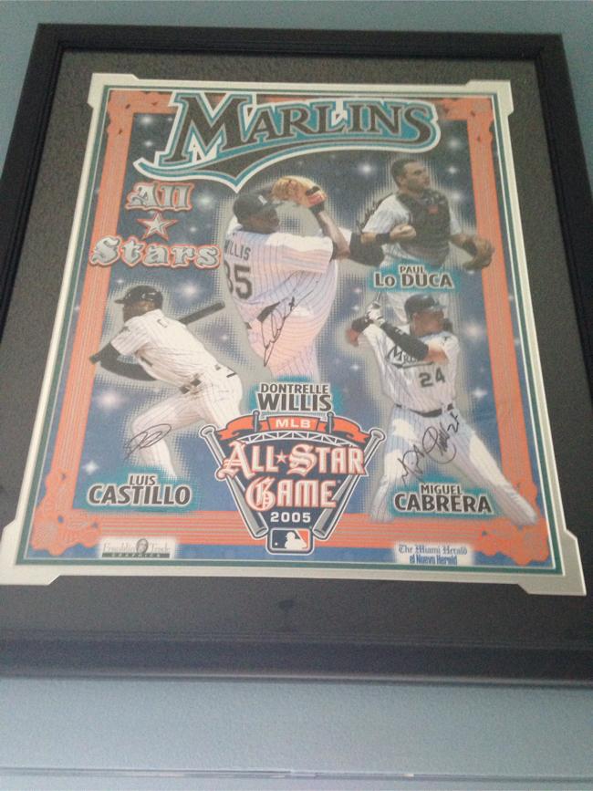 Photo Baseball Florida Marlins 2005 autographed all-star players