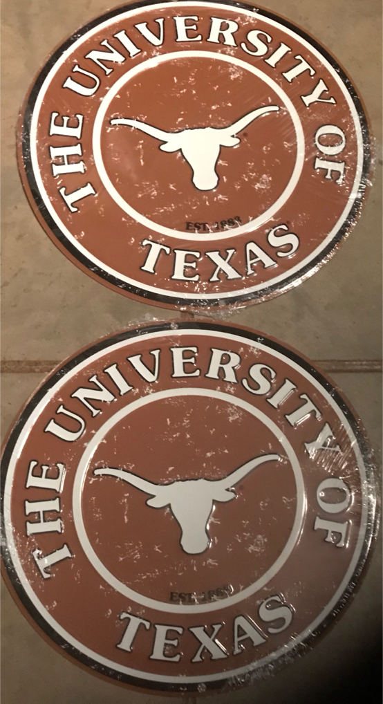Photo Texas Longhorns Metal Sign- new!!