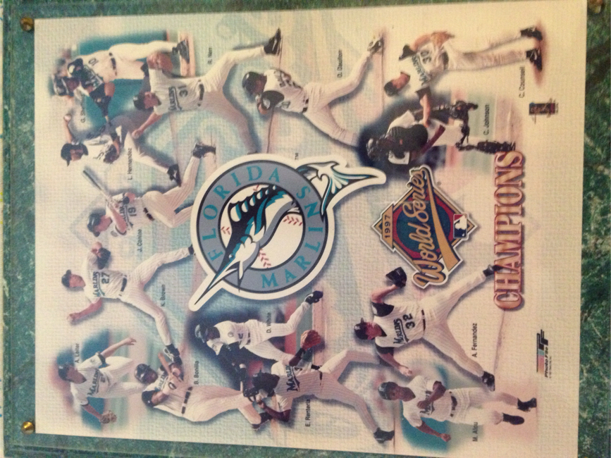 Photo 1997 World Series champs Florida Marlins plaque
