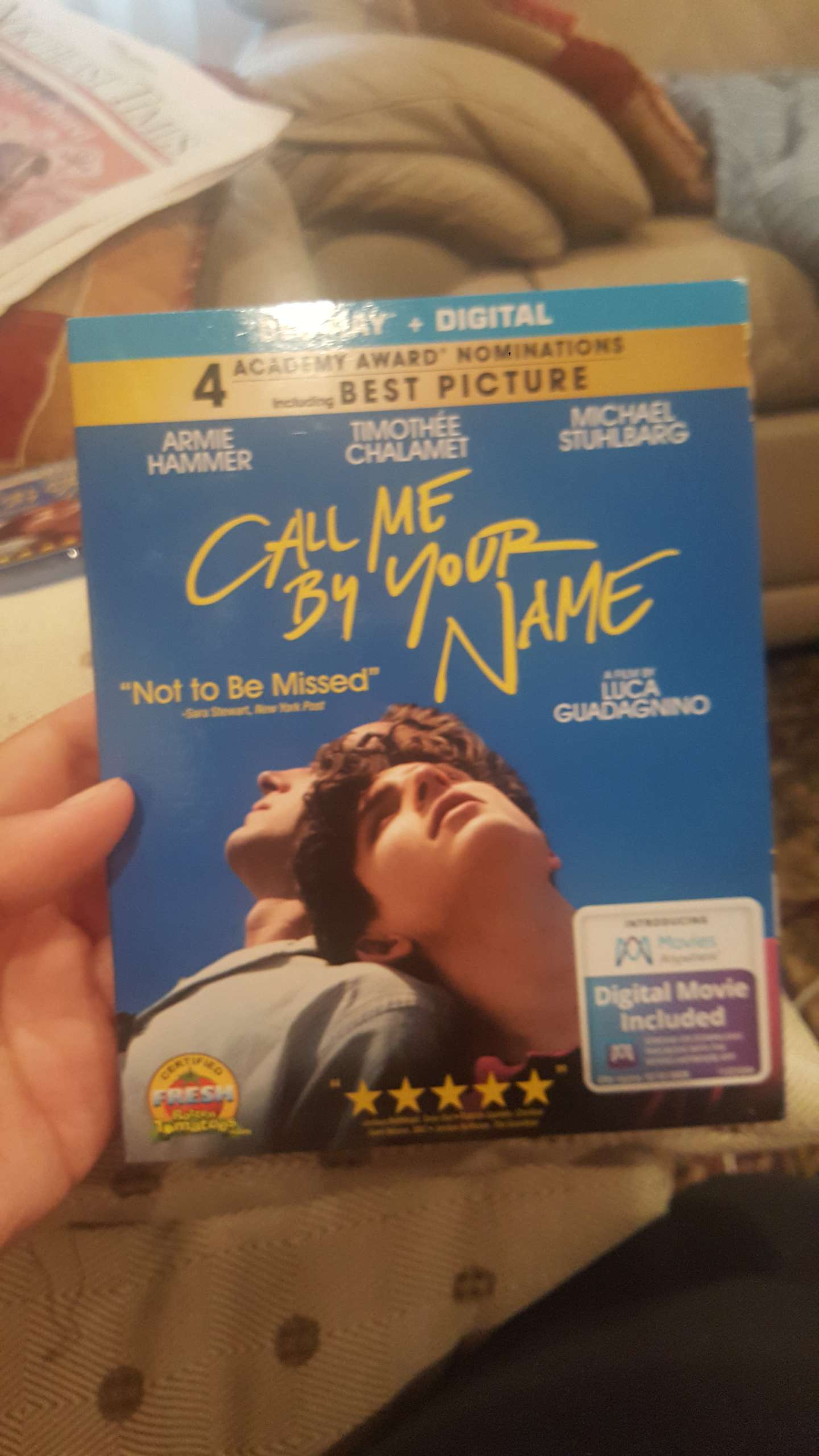 Photo New blue ray DVD call me by your name for sale!