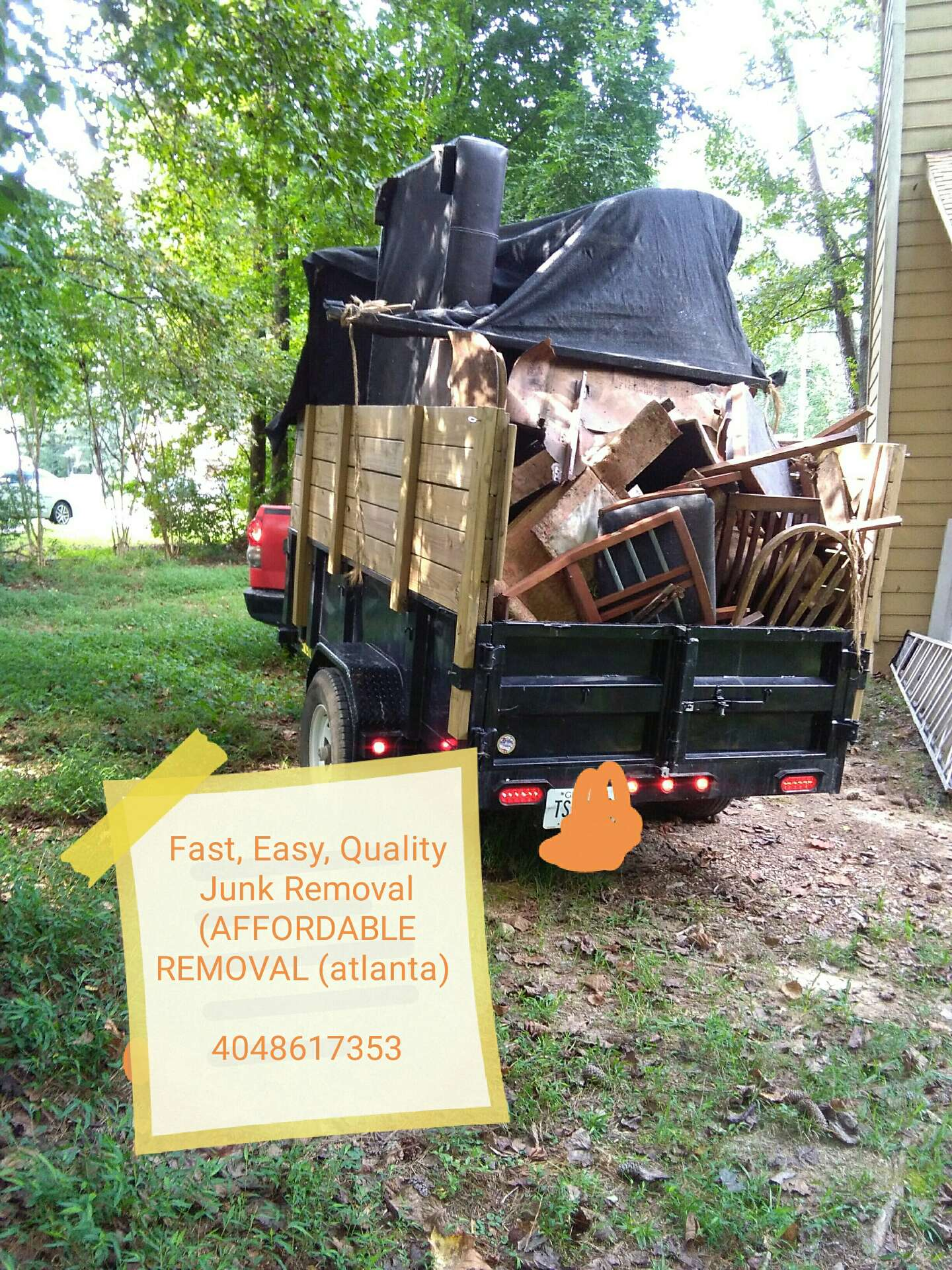 Photo Fast, Easy, Quality Junk Removal (AFFORDABLE REMOVAL (atlanta)The solution! Let Efficient Service Junk Removal do it all for you. We're a licensed contractor