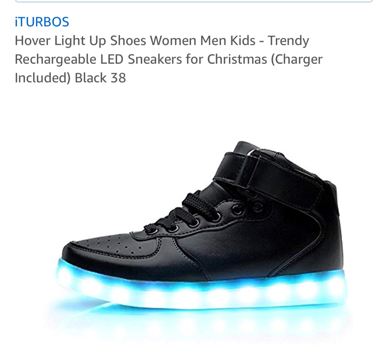 Photo BRAND NEW Iturbos hover light up shoes with charger size 38 (7 us)
