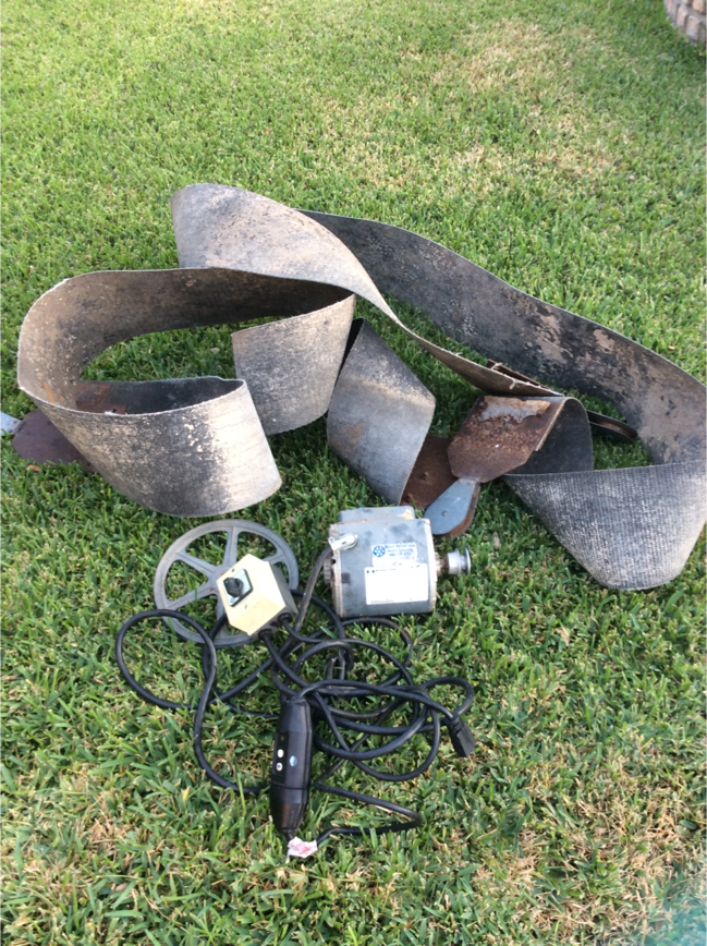 Photo Boat dock lift motor and lift slings. Motor: 3/4 HP 1725 RPM. Works great.