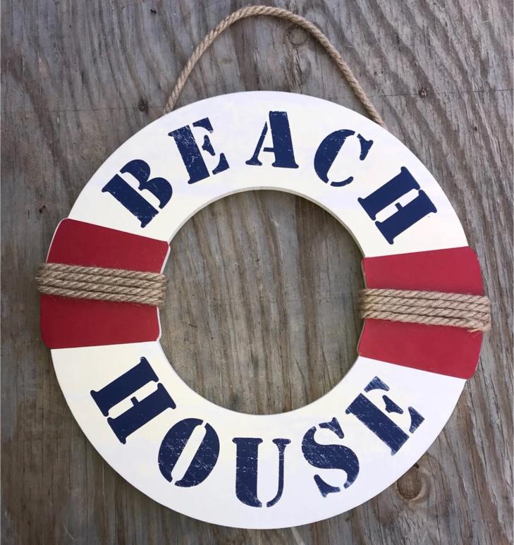 Photo Beach House Sign- wood, New!!