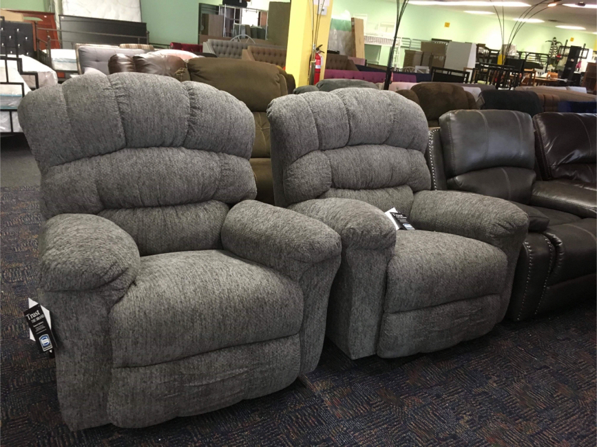 Photo Brand New Ashley Large Size Gray Glider Recliner High Quality Firm Price 🔥 Fast Delivery Available 🔥 We Finance 100 or 90 days same as cash zero interest 🔥 No Credit Check Needed