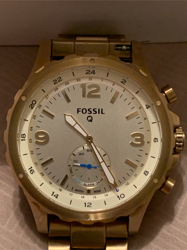 Photo Fossil Q Nate men's watch android with box and papers plus link.