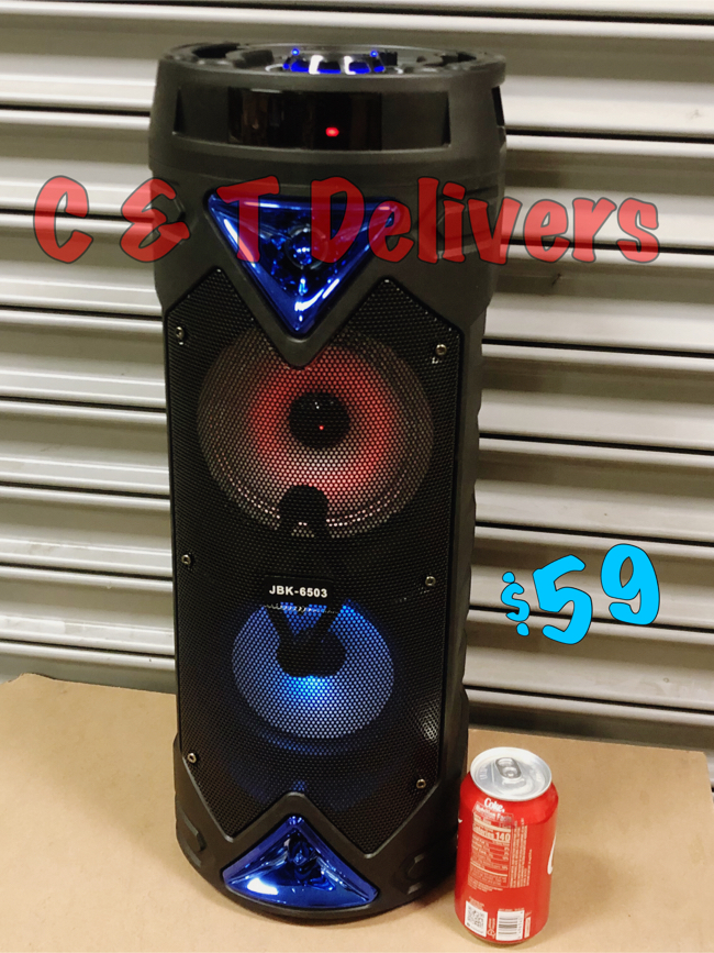 Photo Bluetooth Tower Speaker • New In Box • Loud W/Bass • Portable