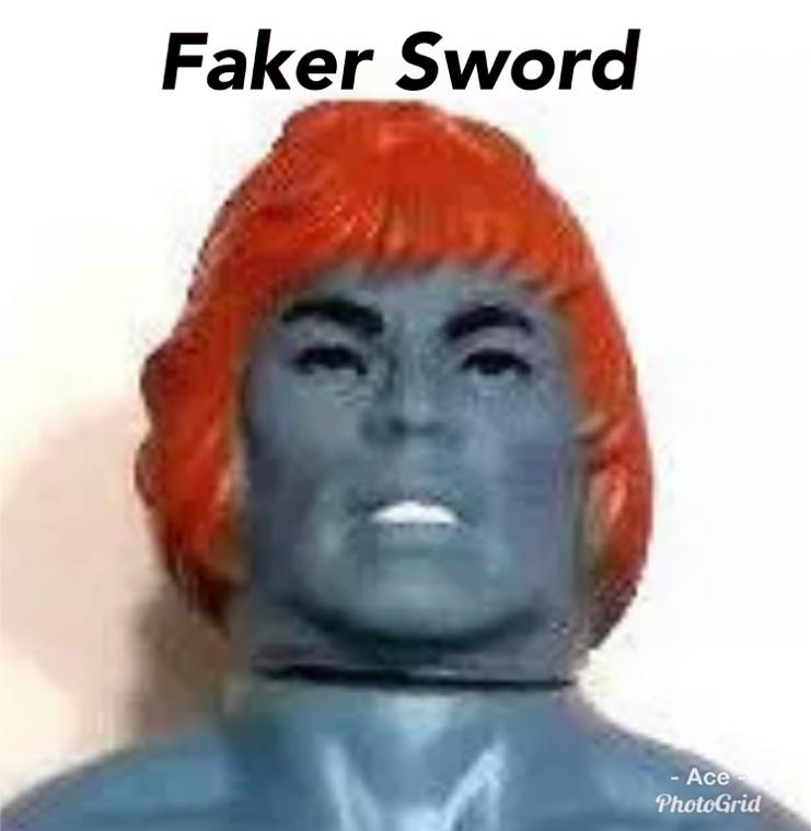 Photo HE-MAN MOTU Vintage: Faker Orange Sword