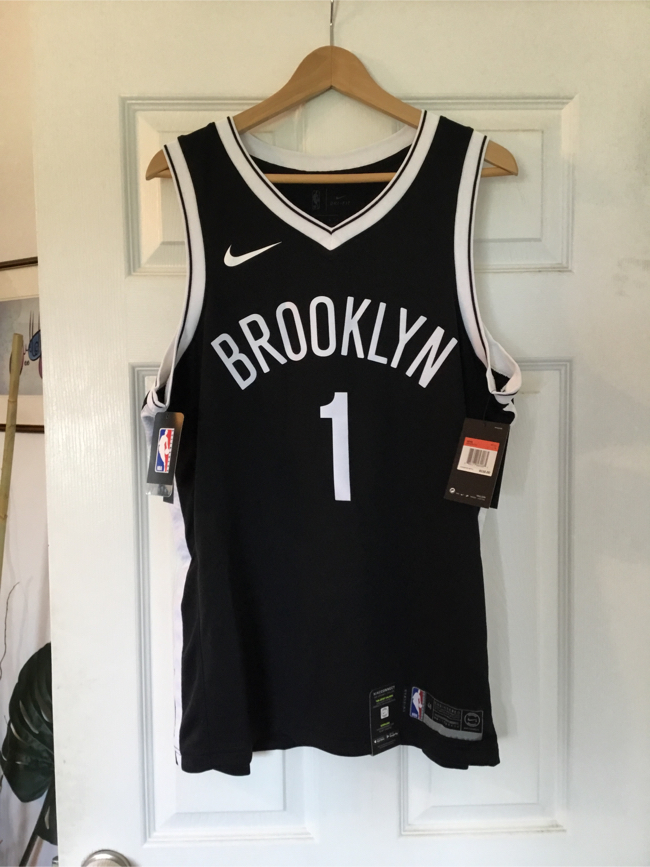 Photo Authentic Nike Dry Fit D'Angelo Russel Brooklyn Nets Jersey BRAND NEW WITH ALL TAGS (L) 1/2 the original price!