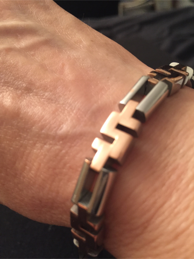 Photo Stainless Steel Two Tone Bracelet