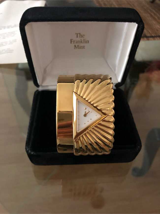 Photo The Franklin Mint Pyramid Cuff Watch (Never Worn)(Excellent Condition)