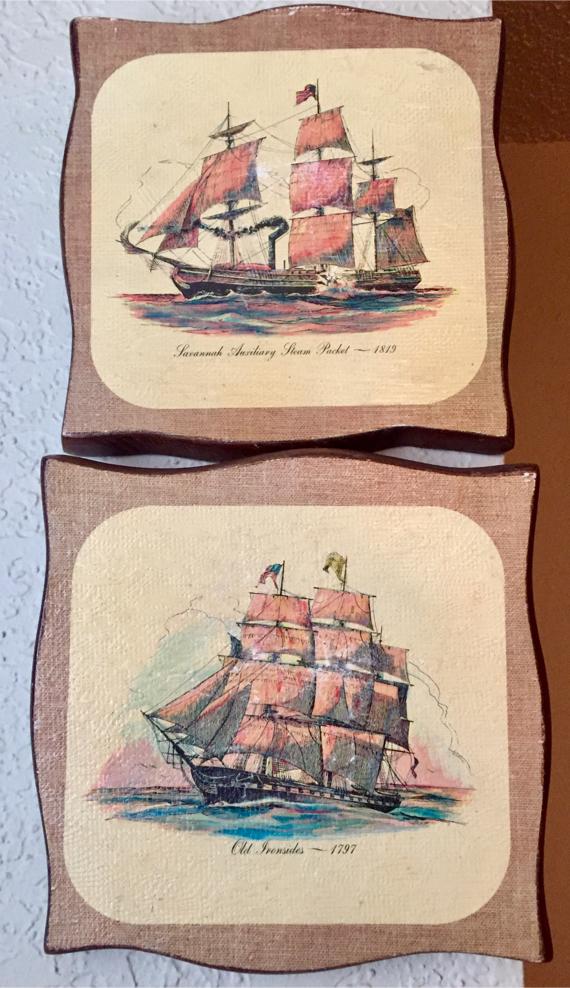 Photo Vintage US NAVY woodcuts