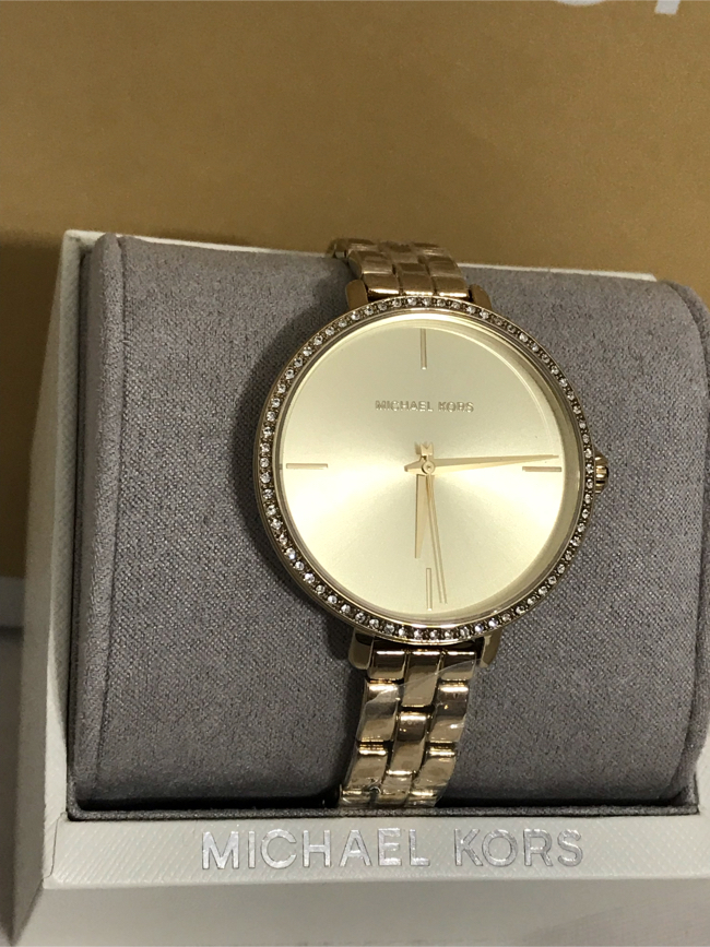 Photo ❤️ Brand New Michael Kors Women's 38mm Case Runway Gold-Tone Stainless Steel Watch- MK4399