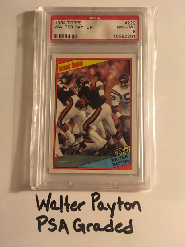 Photo Walter Payton Jackson State Tigers Chicago Bears Hall of Fame RB 1984 PSA Graded Card.