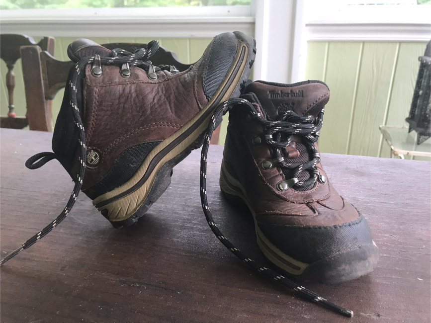 Photo Boys Timberland leather boots little kids size 10, used