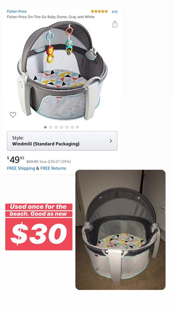 Photo Portable baby dome