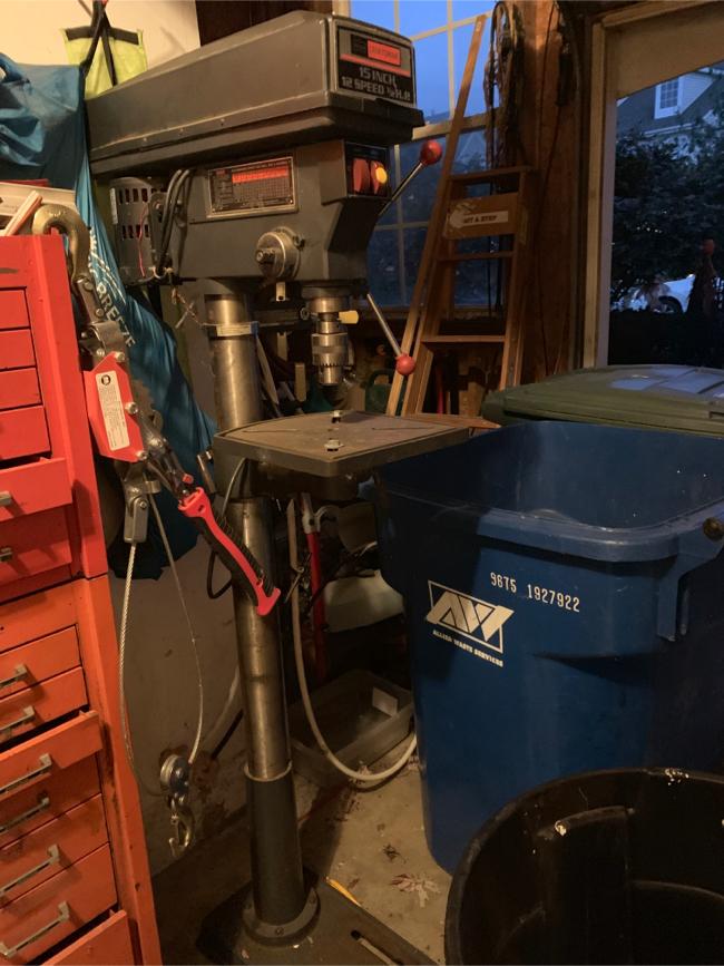 Photo Sears craftsman 15 inch 11 speed 1/2 horsepower drill press