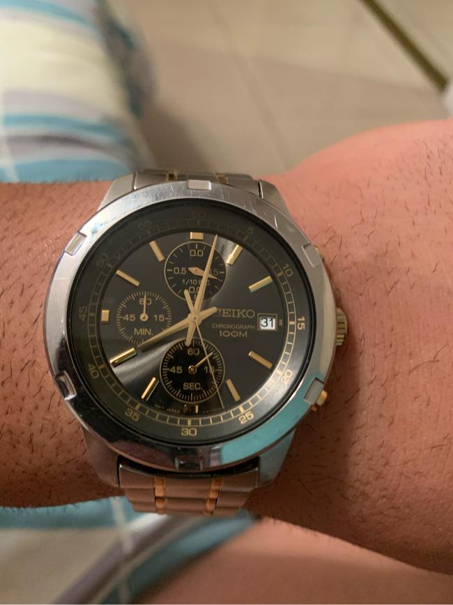 Photo Seiko men's watch vintage chronograph
