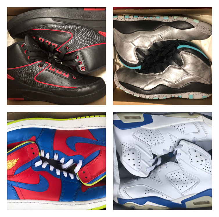 Photo Nike Retro Jordan for sell.. Buy all 3 for $250 Cash. Sizes vary read ad.