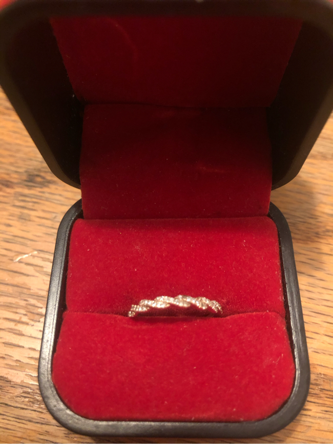 Photo Real Rose Gold Size 4 1/2 Ring Some Stones Are Missing