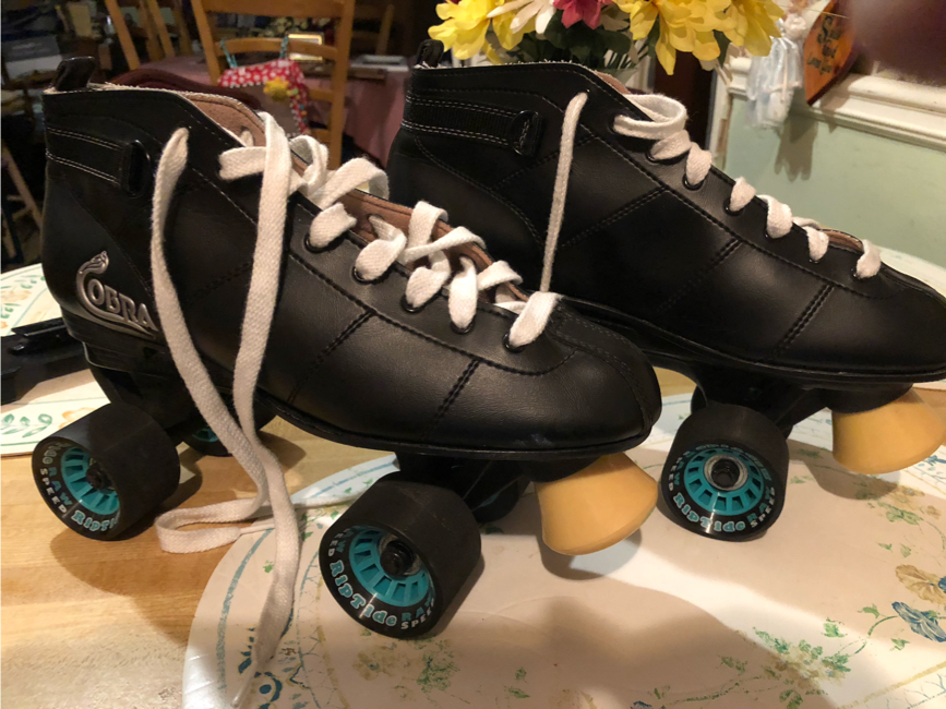 Photo Roller skates speeds Raw RipTidewheels size 11 roller Derby style new condition put on first tide and only time broke my leg at work never could skate again needs to be gone 90 dollars skates Black Friday 45 dollars my Black Friday starts now