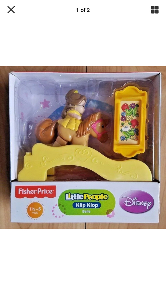 Photo LITTLE PEOPLE BELLE & KLIP KLOP PONY FISHER PRICE NEW
