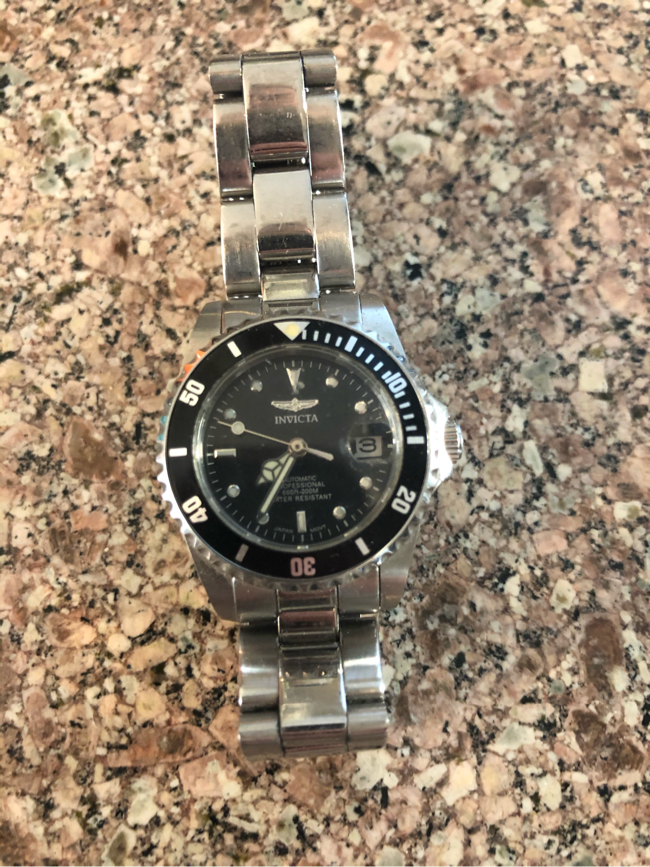 Photo Ladies Invicta Automatic crystal back diver watch