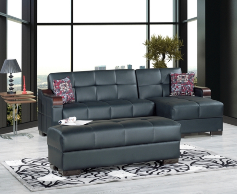 Photo BRAND NEW SECTIONAL SOFA BED WITH STORAGE- MADE IN TURKEY- OTTOMAN SOLD SEPARATELY