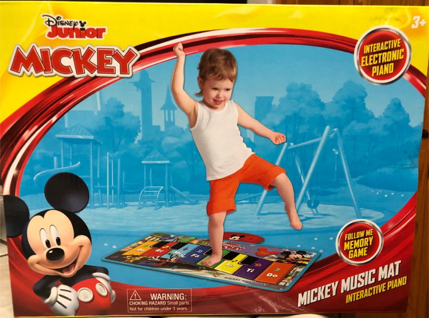 Photo New Disney Junior Mickey Mouse Interactive Electric Piano Music Mat Children's Toy