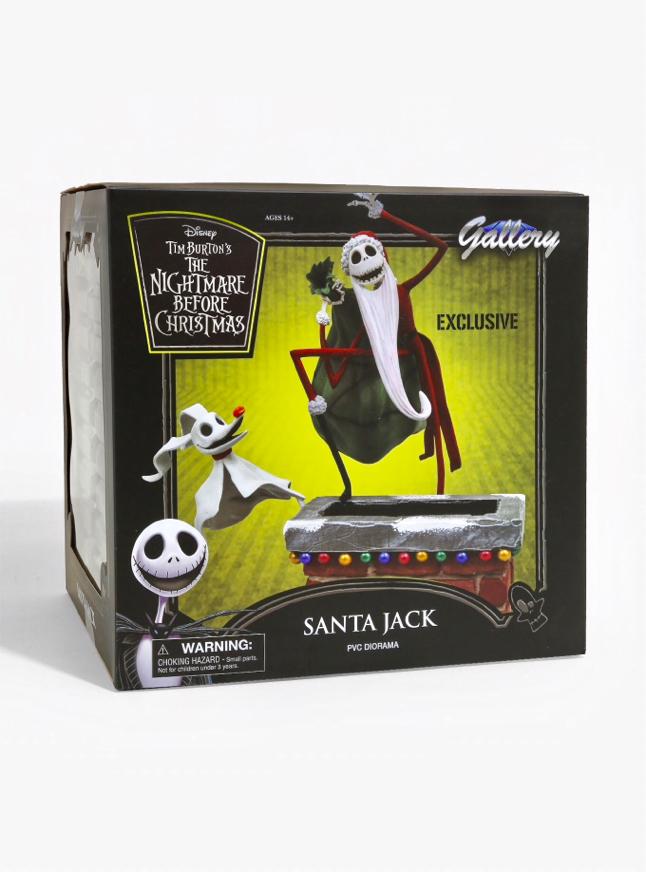 Photo Disney Tim Burton's The Nightmare Before Christmas SANTA JACK PVC Diorama Exclusive Gallery Diamond Select Toys
