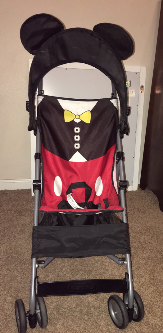 Photo Disney Mickey Mouse 3D Lightweight Compact Baby Umbrella Stroller with Canopy