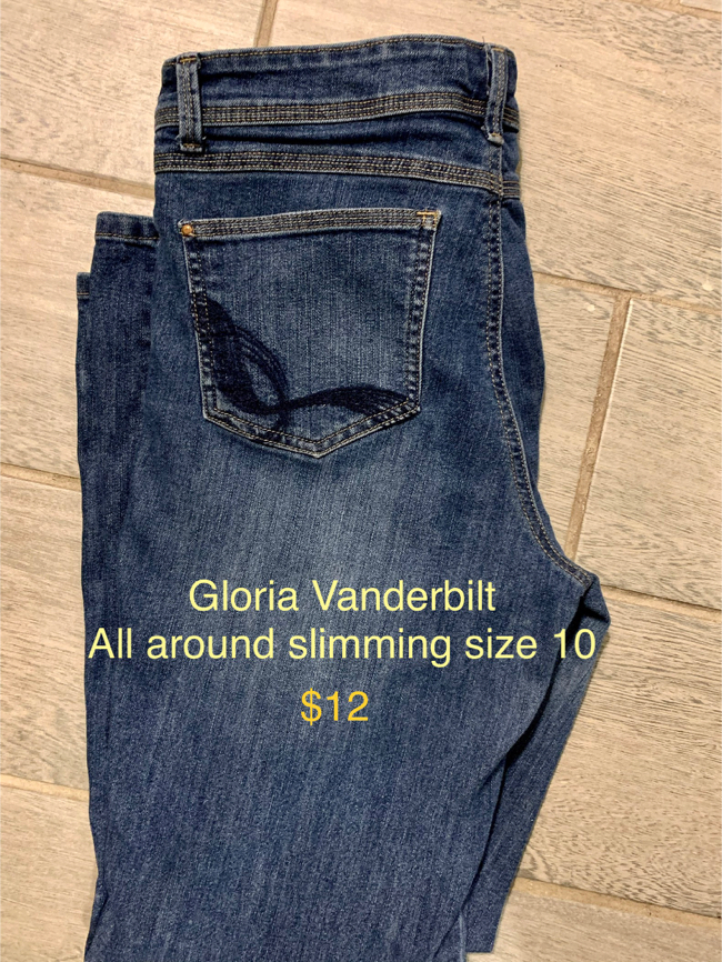 Photo Lucky brand jeans/American eagle etc women's jeans and one pair men's Eddie Bauer jeans... price on pics