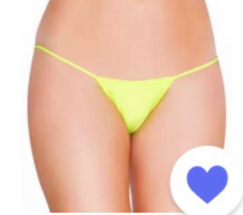 Photo Thong Panty Undergarment G-String Lingerie