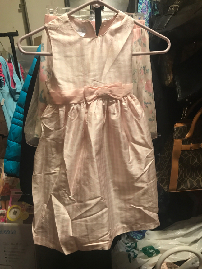 Photo Perfectly Dressed Silk 100% Size 4T Dress Pink and White Checked Fully Lined