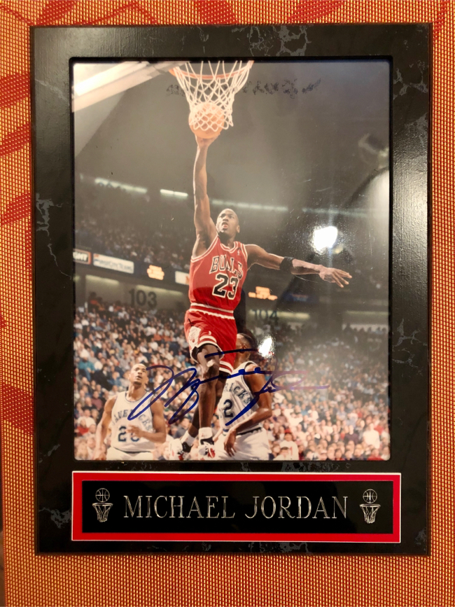 Photo Michael Jordan Autograph Signature Frame