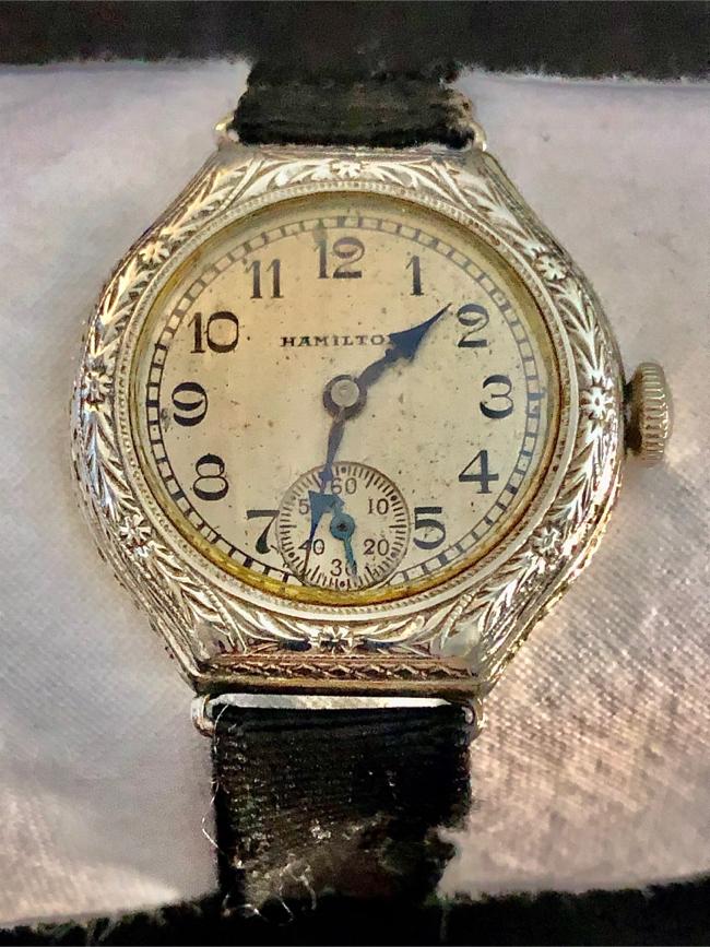"Photo 1920S"" Hamilton 14k White Gold Filled Watch"