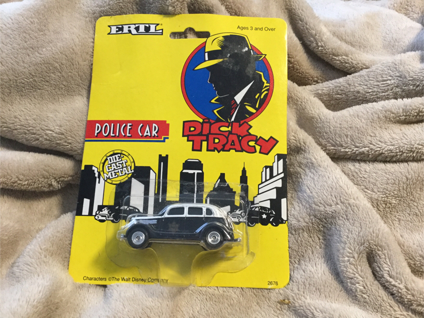 Photo Ertl Dick Tracy Police Car, MOC 1990