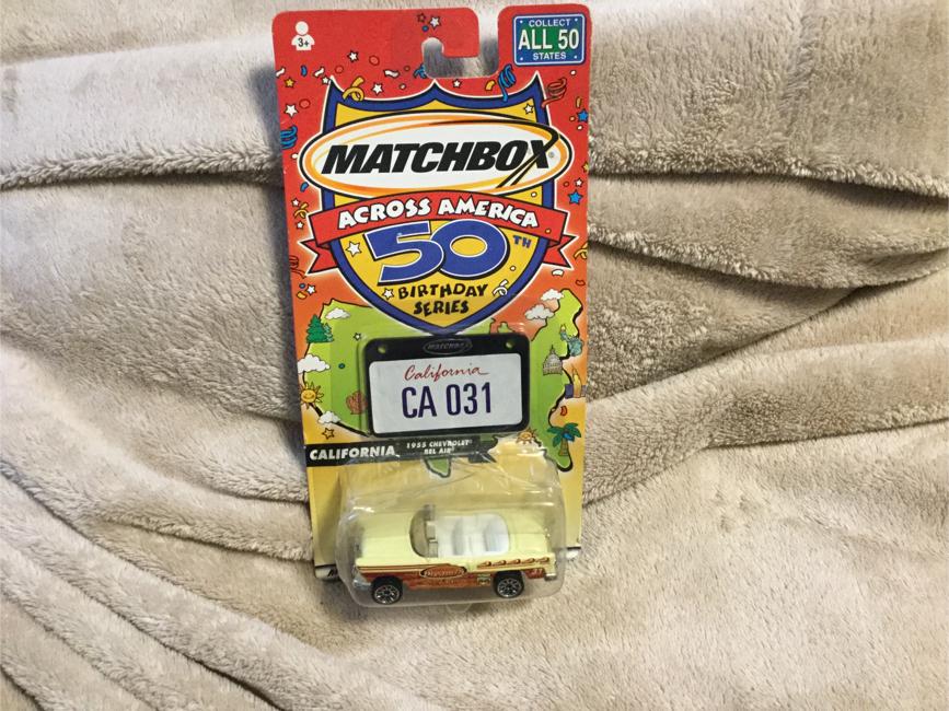 Photo Matchbox Across America 50th Birthday Series California 1955 Chevrolet Bel Air MOC From 2001
