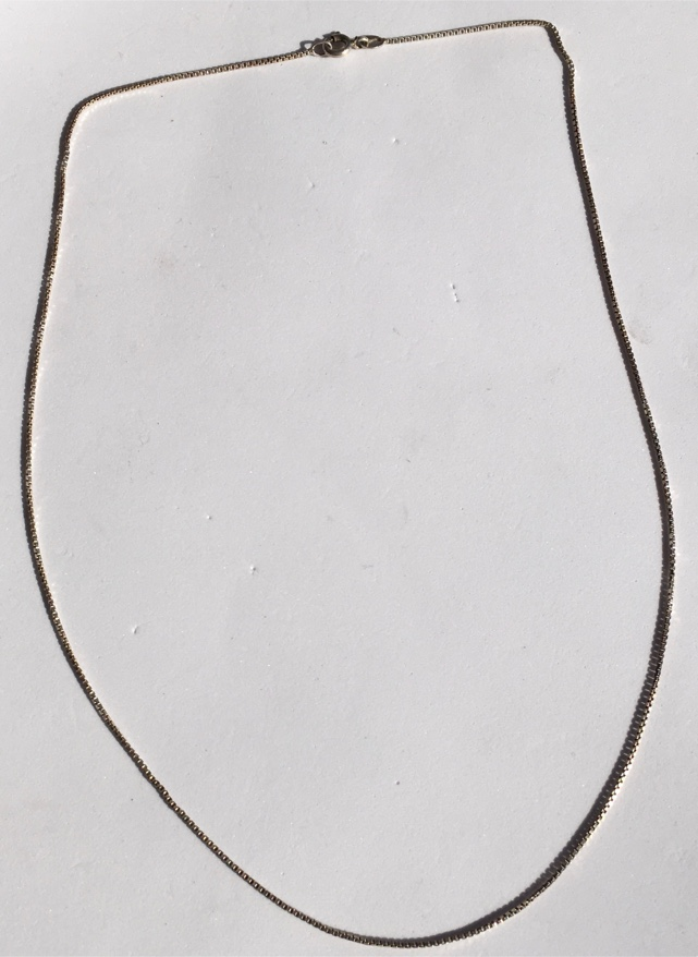 """Photo Solid Italian Sterling Silver Box Link Chain 925, 20"""""""