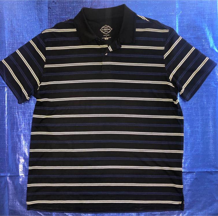 Photo Like New Men's LARGE Quick Dri ST Johns Bay Polo Shirt (Measurements Listed)