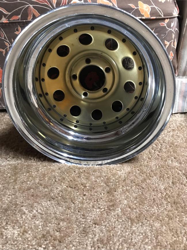 Photo Rims gold rims deep dish 16x11 good for corvette Camaro Trans Am firebird