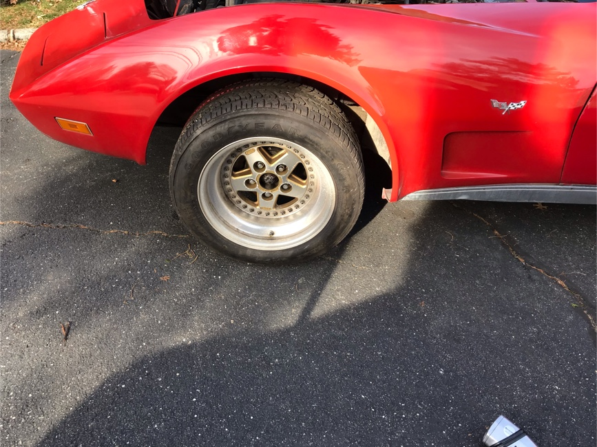 Photo Rims and tires, gotti 246/60/16 Porsche corvette gold rims