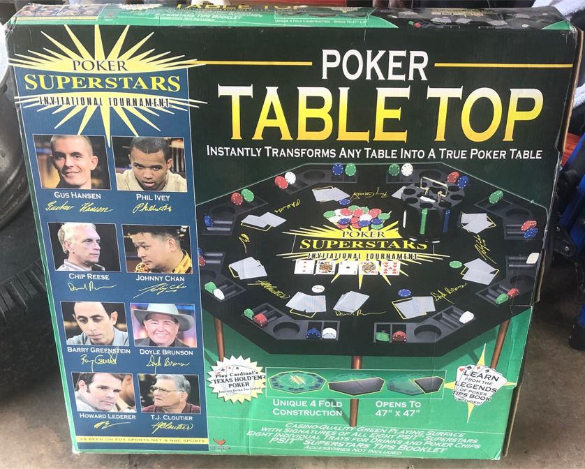Photo Poker Superstars Poker Table Top